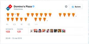 dominos pizza permet à ses consommateurs de commander une îzza en twittant