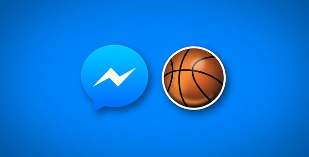 Facebook-Messenger-basketball-réseaux sociaux