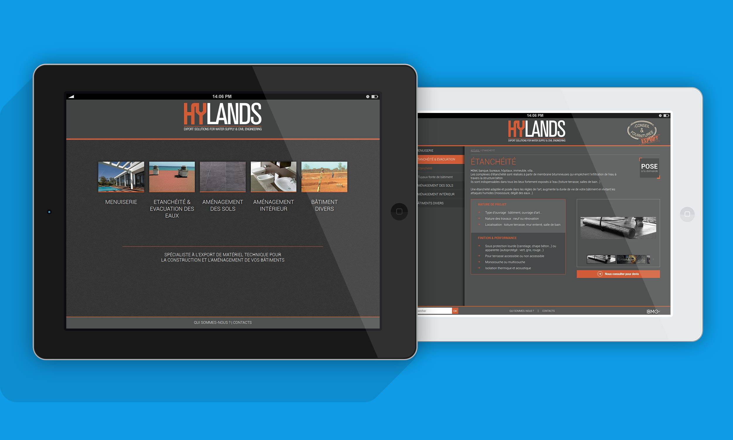 conception de site web hylands construction